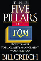 The five pillars of TQM : how to make total quality management work for you