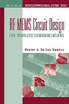 RF MEMS Circuit Design for Wireless Applications.