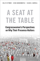 A seat at the table : congresswomen's perspectives on why their presence matters