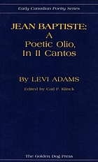 Jean Baptiste : a poetic olio, in II cantos