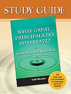 Study guide : what great principals do differently : 15 things that matter most