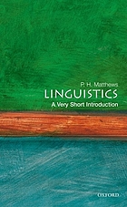 Linguistics : a very short introduction