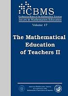 The mathematical education of teachers II.