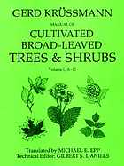 Manual of cultivated broad-leaved trees & shrubs