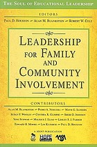 Leadership for family and community involvement.