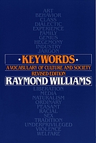 Keywords : a vocabulary of culture and society
