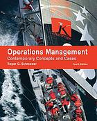Operations management : contemporary concepts and cases