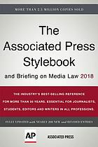 The Associated Press Stylebook 2018 : and briefing on media law