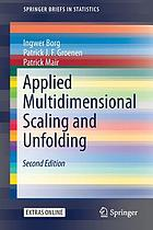 Applied Multidimensional Scaling.
