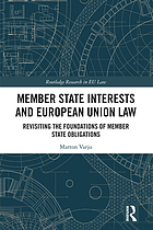 Member states interests and European Union law : revisiting the foundations of member state obligations