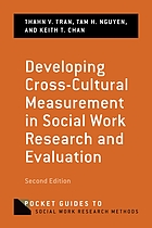 Developing cross-cultural measurement in social work research and evaluation.