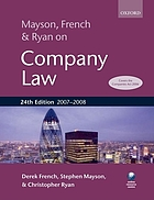 Mayson, French and Ryan on company law
