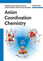 Anion coordination chemistry