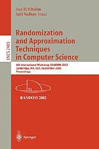 Randomization and approximation techniques in computer science : international workshop RANDOM '97, Bologna, Italy, July 11-12,1997 : proceedings