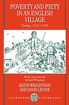 Poverty and piety in an English village : Terling, 1525-1700