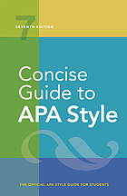 book cover Concise APA Manual