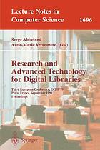 Research and Advanced Technology for Digital Libraries : Third European Conference, ECDL'99 Paris, France, September 22-24, 1999 Proceedings