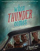 When thunder comes : poems for civil rights leaders