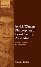 Jewish Women Philosophers of First-Century Alexandria.