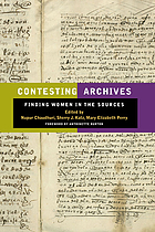 Contesting archives : finding women in the sources