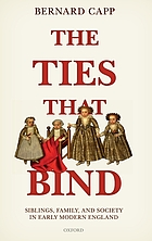 The ties that bind : siblings, family, and society in early modern England