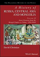 A history of Russia, Central Asia, and Mongolia