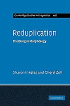 Reduplication : doubling in morphology