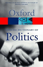 The concise Oxford dictionary of politics.