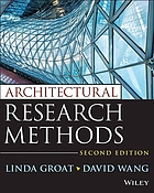 Architectural Research Methods by David Wang and Linda N. Groat