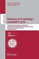 Advances in Cryptology - ASIACRYPT 2019 : 25th International Conference on the Theory and Application of Cryptology and Information Security, Kobe, Japan, December 8-12, 2019, Proceedings. Part II