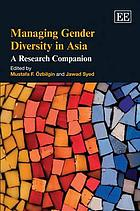 Diversity management in Asia : a research companion