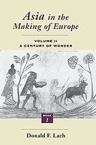Asia in the making of Europe / Book 1. The visual arts.