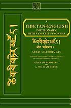 A Tibetan-English dictionary, with Sanskrit synonyms