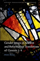 Gender issues in ancient and Reformation translations of Genesis 1-4
