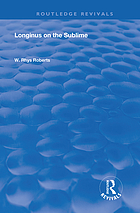 Longinus on the Sublime : the Greek text edited after the manuscript