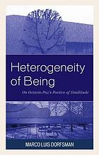 Heterogeneity of being : on Octavio Paz's poetics of similitude