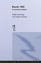 Kursk 1943 : a statistical analysis