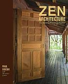 Zen Architecture : the building process as practice