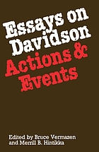 Essays on Davidson : actions and events