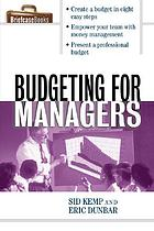 Budgeting for managers.