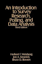 An introduction to survey research, polling, and data analysis