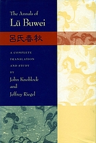 The annals of Lü Buwei : Lüshi chunqiu