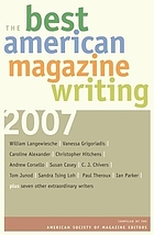 The best American magazine writing, 2007