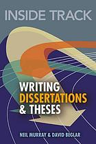 Inside track : writing dissertations and theses