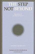 The Step not beyond : Translation of Le pas au-delà