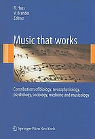 Music that works : contributions of biology, neurophysiology, psychology, sociology, medicine and musicology