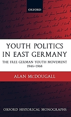 Youth politics in East Germany : the Free German Youth Movement ; 1946-1968