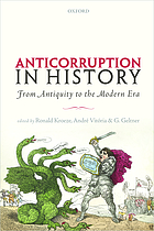 ANTICORRUPTION IN HISTORY : from antiquity to the modern era.