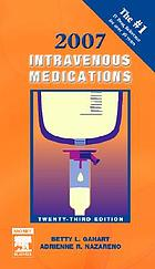 Intravenous medications : a handbook for nurses and health professionals
