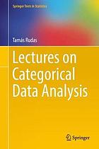Lectures on categorical data analysis
